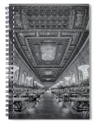 Rose Main Reading Room At The Nypl Bw Spiral Notebook