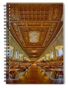 Rose Main Reading Room At The Nypl Spiral Notebook