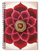Rose Mandala Spiral Notebook