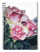 Watercolor Of A Bouquet Of Pink Roses I Call Rose Michelangelo Spiral Notebook