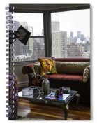 Rose Pillow In Piano Room Spiral Notebook