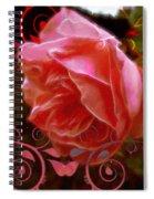Rose Rose And Rose Spiral Notebook