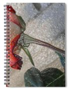 Rose To The Side 4 Spiral Notebook