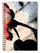 Rose To The Side 5 Spiral Notebook