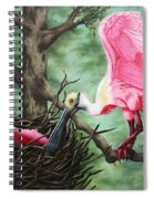 Roseate Spoonbill Nesters  Spiral Notebook