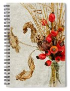 Rosehips And Grasses Spiral Notebook