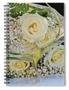 Roses And Baby Breath Spiral Notebook