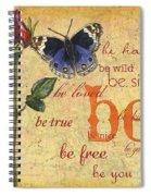 Roses And Butterflies 1 Spiral Notebook