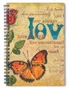 Roses And Butterflies 2 Spiral Notebook