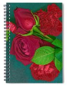 Roses And Carnations Spiral Notebook