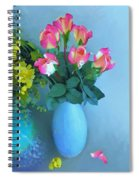 Roses And Flowers In A Vase Spiral Notebook