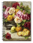 Roses And Fruit Spiral Notebook