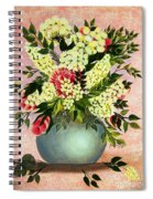 Roses And White Lilacs Spiral Notebook
