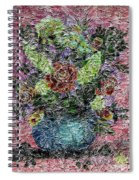 Roses And White Lilacs Digital Painting Spiral Notebook