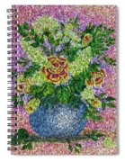 Roses And White Lilacs Lacy Bouquet Digital Painting Spiral Notebook