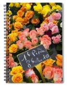 Roses At Flower Market Spiral Notebook