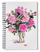Roses In A Glass Jar  Spiral Notebook