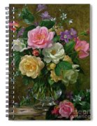 Roses In A Glass Vase Spiral Notebook