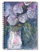 Roses In A Vase Spiral Notebook