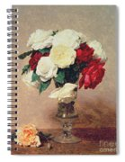 Roses In A Vase With Stem Spiral Notebook