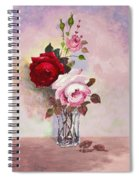 Roses In Glass Spiral Notebook