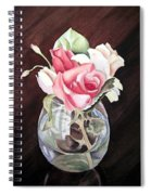 Roses In The Glass Vase Spiral Notebook