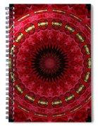 Roses Kaleidoscope Under Glass 12 Spiral Notebook