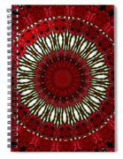 Roses Kaleidoscope Under Glass 18 Spiral Notebook