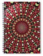 Roses Kaleidoscope Under Glass 21 Spiral Notebook