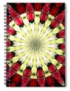 Roses Kaleidoscope Under Glass 23 Spiral Notebook