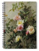 Roses On A Wall Spiral Notebook