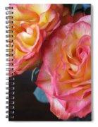 Roses On Dark Background Spiral Notebook