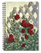 Roses On Lattice Spiral Notebook