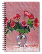 Roses On Pink Spiral Notebook