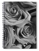 Roses On Your Wall Black And White  Spiral Notebook