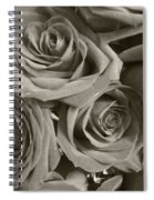 Roses On Your Wall Sepia Spiral Notebook