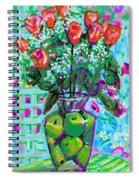 Roses With Apples Spiral Notebook