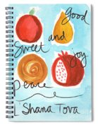 Rosh Hashanah Blessings Spiral Notebook