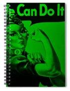 Rosie In Green Spiral Notebook