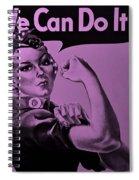 Rosie In Pink Spiral Notebook