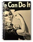 Rosie In Sepia Spiral Notebook