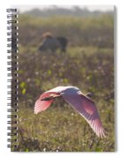 Rosy In The Field Spiral Notebook