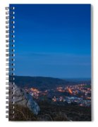 Rothbury Town At Dusk Spiral Notebook