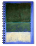 Rothko's No. 14 -- White And Greens In Blue Spiral Notebook