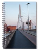 Rotterdam Downtown Skyline At Sunset Spiral Notebook