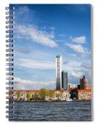 Rotterdam Skyline In Netherlands Spiral Notebook