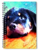 Rottie Puppy By Sharon Cummings Spiral Notebook
