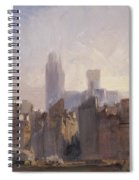 Rouen Cathedral Sunrise Spiral Notebook