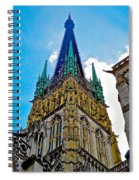 Rouen Church Steeple Spiral Notebook