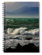 Rough Seas Kaikoura New Zealand Spiral Notebook
